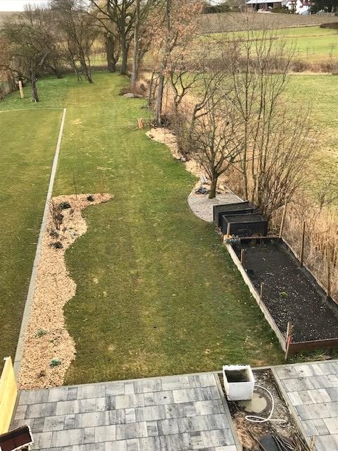 Garten im März 2018